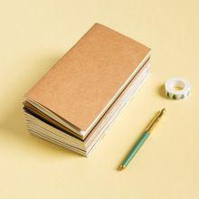 Vintage Carta Kraft Standard di Ricarica Notebook Taccuino del Viaggiatore Notepad Vuota Diario Ufficiale Planner Organizzatore filo di Carta Apporto