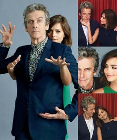 Peter Capaldi (The Twelfth Doctor) & Jenna Coleman (Clara Oswald)