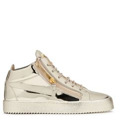 Giuseppe Zanotti Vegas high-top sneakers in metallic gold leather 635 EUR.