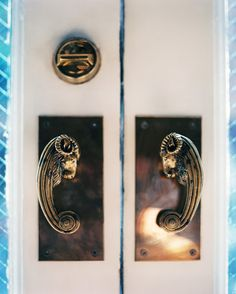 Lonny August 2012: Ram's head door handles.