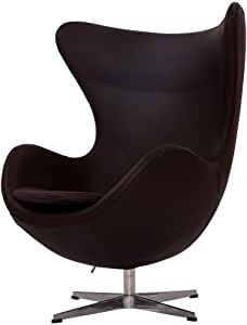 Italian Leather & Hand Sewing. High Density Foam. Swivel, 4 Star Satin Polished Aluminum Base Egg Shaped Chair, Used Chairs, Arm Chairs, Lounge Chairs, Pedicure Chairs For Sale, Outdoor Rocking Chairs, Futuristic Furniture, Arne Jacobsen, Egg Chair