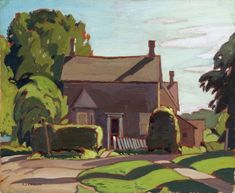 Farmhouse, 1938 by Alfred Joseph Casson on Curiator, the world's biggest collaborative art collection. Group Of Seven Art, Group Of Seven Paintings, Art Deco Paintings, Landscape Paintings, Oil Paintings, Canadian Painters, Canadian Artists, Ontario, Franklin Carmichael