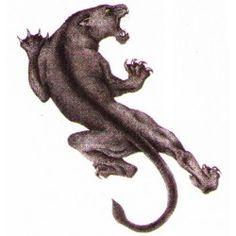 Panther temporary tattoo design