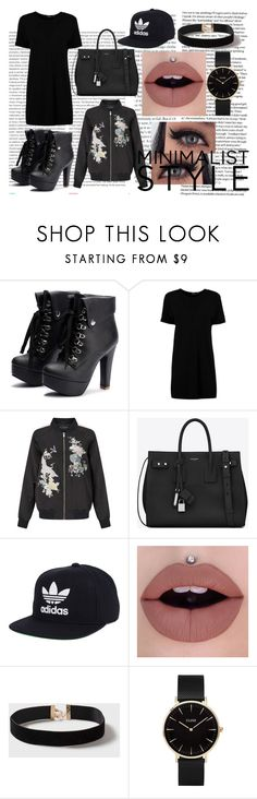 """."" by nothing-better-than-a-riddle on Polyvore featuring Oris, Boohoo, Miss Selfridge, Yves Saint Laurent, adidas, Dorothy Perkins and CLUSE"