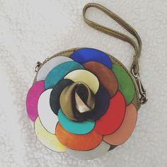 Multi-Color Flower Wristlet/Cross Body Mass posting - description coming soon  Bags Clutches & Wristlets