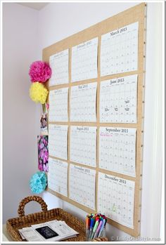 Trendy Ideas For Bedroom Desk Organization Diy Calendar Office Calendar, Diy Calendar, Desk Calendars, Large Wall Calendar, Business Calendar, Family Calendar Wall, Wall Calender, Dry Erase Wall Calendar, Calendar Layout