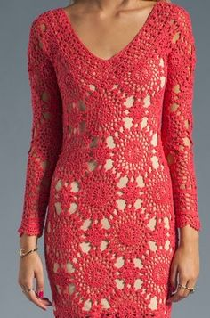 Vestido Vermelho de squares