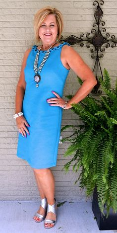50 IS NOT OLD BLUE DRESS 3