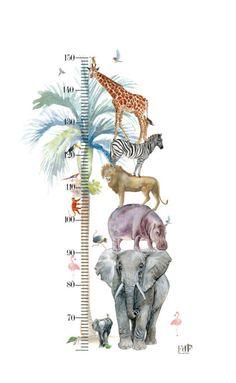 Size chart Animal Parade cm x 50 cm ) - Fleur Kuipers - Size chart Animal Parade cm x 50 cm ) – Fleur Kuipers Size chart Animal Parade – Fleur Ku - Boys Jungle Bedroom, Boys Bedroom Paint, Jungle Room, Jungle Nursery, Baby Boy Rooms, Animal Bedroom, Animal Nursery, Happy Animals, Safari Animals