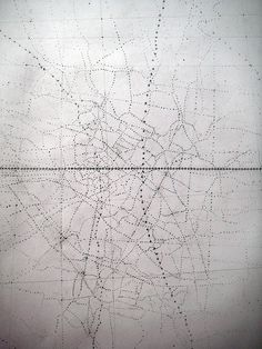 "I really like this. Cartographic art. ""Map 2"" by Emma McNally. Graphite/Carbon on paper A2"