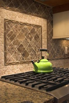 Kitchen Backsplash Ideas | Sophisticated Edge.  Add a monogram in the center of the frame....great!