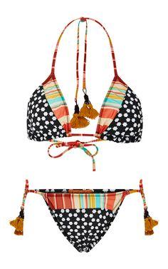 Tassel Mosaic Bikini Set - Salinas Swim Resort 16 - Preorder now on Moda Operandi