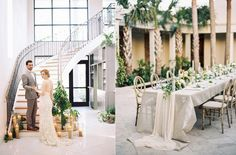 Cannon Green is an awesome Charleston wedding venue.  half old trolley warehouse and half 19th century home façade. Photo Eric Kelley