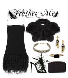 """Feather Me"" by mia-christine ❤ liked on Polyvore featuring John Lewis, Dsquared2, By Malene Birger, Gas Bijoux, NAKAMOL, LUMO, J. Furmani, Heels and feathers"