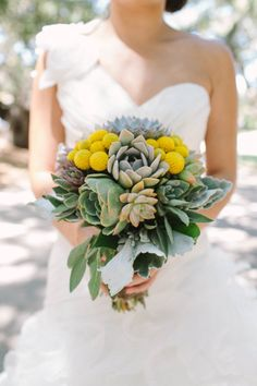 this is a bit too succulent heavy, but I do love the idea of incorporating succulents.