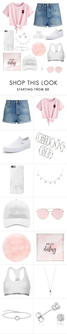 """""""hello darling"""" by mayachera ❤ liked on Polyvore featuring Raey, WithChic, Vans, adidas, LMNT, Hello Darling, Calvin Klein, Marc Jacobs, Thomas Sabo and Amanda Rose Collection"""