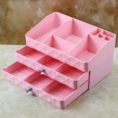 NEW MYSTICA ABS Three layer Plastic Makeup Drawers Storage Box Jewelry Container Make up Organizer Case Cosmetic Office Boxes -in Storage Boxes & Bins from Home & Garden on Aliexpress.com | Alibaba Group