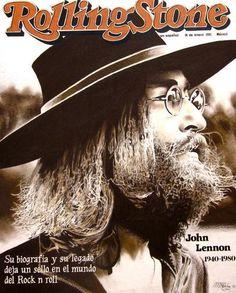 John Lennon - Rolling Stone (Mexico) Cover - January 1981 - Mini Print