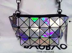 Laser Silver Mini Plaid Women Handbag Messenger clutch Shoulder bag #Handmade #MessengerCrossBody