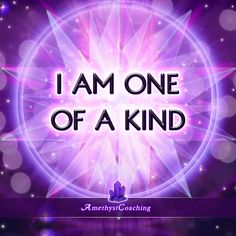 Today's Affirmation: I am One Of A Kind <3 #affirmation #coaching Amethyst Coaching shares different affirmations every day to be in a good mindset. However, for best results, it's preferable to choose one and repeat it often and every day. We also recomm