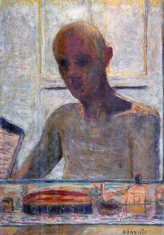 Portrait of the artist in the bathroom mirror 1939 Pierre Bonnard