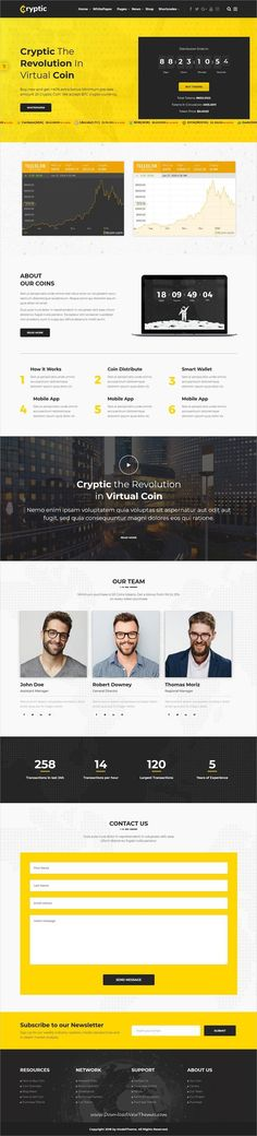 Cryptic is clean and modern design 5in1 responsive WordPress theme for #crypto currency exchange market, Crypto currency #investments and #ICO agencies website to live preview & download click on Visit  #webdesigninspiration #currencyexchange