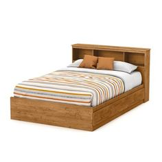 Shop South Shore Furniture  Little Treasures Full 3-Drawer Mate's Bed with Bookcase Headboard at ATG Stores. Browse our beds, all with free shipping and best price guaranteed.
