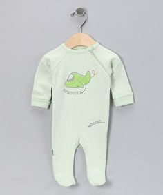 Take a look at this Green Airplane Organic Footie on zulily today!