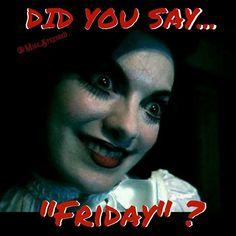 Did you say #Friday?  #Thankgoditsfriday #tgif #Instahorror #Horror #Horrormovie #Horrormovies #Horrorfanatic #Horrorfan #Horrorfilm #Horrorjunkie #Horrorchick #Horrorbabe #Horrorbabes #Horroraddict #Horrornerd #Horrormakeup #Creepy #Creeplife #Creepycute #Scarymovie #Scarymovies #Scarymakeup #Scaryeyes #Creepyeyes