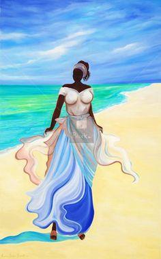 Janice Sylvia Brock, Barbados artist    Venus - Oil on canvas
