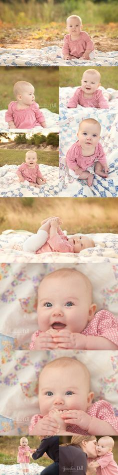 love this 6mos session {Jennifer Dell Photography}