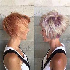 Pink Shadow Root Cut and Color Short Choppy Hair, Cute Short Haircuts, Short Hair Cuts, Short Hair Styles, Short Wavy, Secret Hair Extensions, Hair Extensions Before And After, Pink Blonde Hair, Blonde With Pink