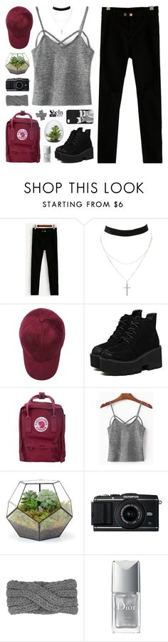 """""""SheIn"""" by novalikarida ❤ liked on Polyvore featuring Charlotte Russe, Fjällräven, WithChic, Christian Dior, Monki, Sheinside and shein"""