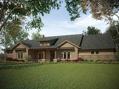 Eplans Ranch House Plan - Four Bedroom Ranch - 3197 Square Feet and 4 Bedrooms from Eplans - House Plan Code HWEPL58770