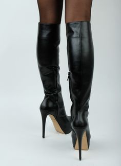 Petite boots heel Pasha Knee Super High