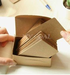 200pc-Blank-Business-Card-Name-Message-Note-DIY-Stamp-Label-Tag-Brown-Kraft-Gift