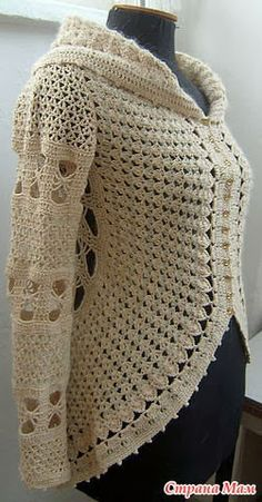 Crochet round jacket - with diagrams