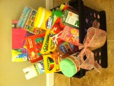 daycare / teacher basket- first day of school  Wow I would love this!  I will have to use this for my kids next year!