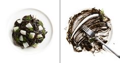 Spaghetti with Squid Ink and Squid by Chef & Photographer: Francesco Tonelli.