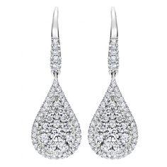 14k White Gold Diamond Drop Earrings 0.78 ct EG11971W44JJ - Drop Earrings - Earrings - Fine Jewelry