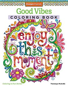 Good Vibes Coloring Book (Coloring Activity Book)just got a kitty cat adult  coloring book, looks so fun... this one could be next?  but got to do the one I have first.  :)