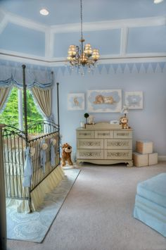 The Chic Technique: Royal Prince Nursery, Prince Baby Nursery Design Ideas, Fairytale Room by celebrity nursery designer, Sherri Blum of Jack and Jill Interiors.