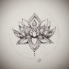 lotus flower drawing. This would be a super cute tattoo...