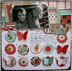 """""""Friends for Eva"""" layout by Bernii Miller for BoBunny using the Star-Crossed collection."""