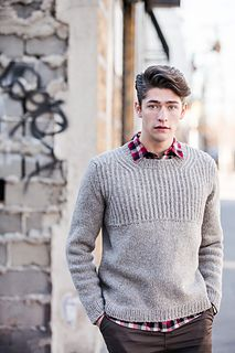 Brooklyn Tweed - Oshima Pullover (For Him) Brooklyn Tweed, Leather And Lace, Big Knits, Men's Knits, Knit In The Round, How To Purl Knit, Knit Purl, Knitwear, Knit Crochet