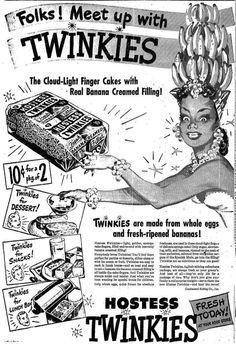 Twinkies ad, Boston Herald circa 1949 (via America's Historical Newspapers)