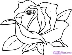 how to draw a rose step by step - Google Search