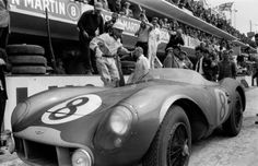 Le Mans 1956. Stirling Moss, Aston Martin DB3S.