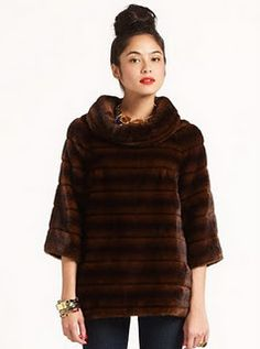 kate spade faux fur top. I need to find this somewhere!