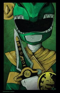 Vaya .. Vaya .. Power Ranger Tinta sobre papel, coloreado con Photoshop Echa un vistazo a más trabajo en chrisuminga.com